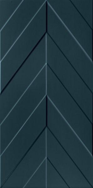 Obklad Blue Chevron 40x80 cm, mat