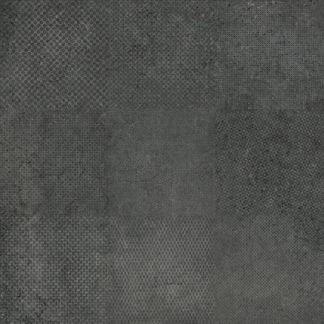 Dlažba Dark Decoro 60x60 cm, mat, rect.
