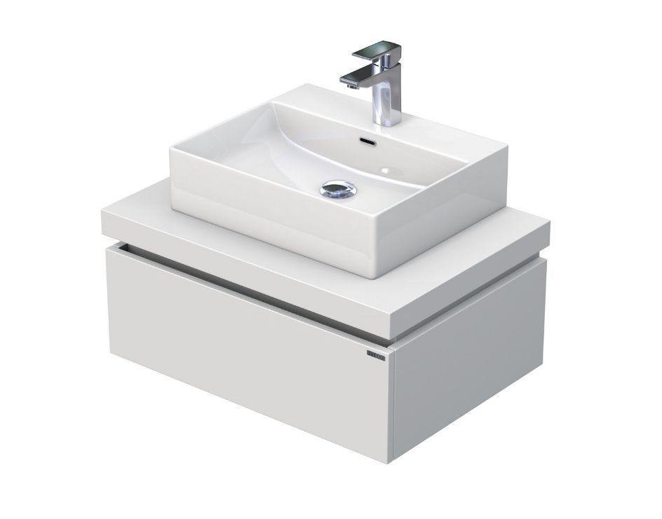Skříňka s umyvadlem na desku 70,5x50,2x44,4 cm