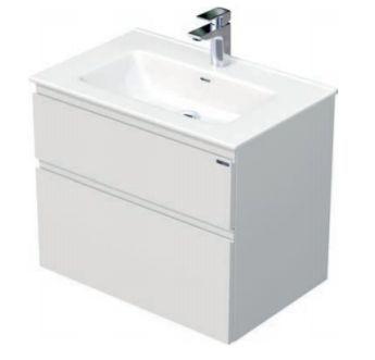 Skříňka s umyvadlem a se 3 zásuvkami, 71x46x70,5 cm