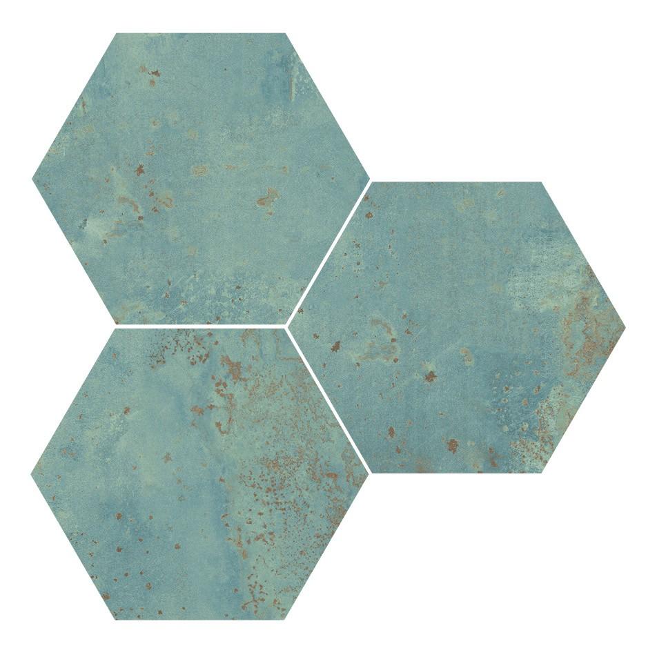 Obklad Hexagon Green 25x29 cm, mat