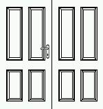 Dveře 145cm, série Odysseus