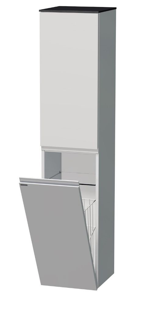 Vysoká skříňka s košem 35x35x161 cm