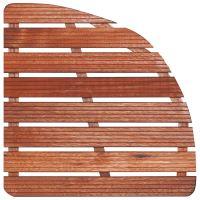 Dřevěná sprchová rohož čtvrtkruh 74x74cm