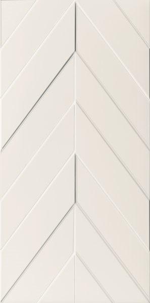 Obklad White Chevron 40x80 cm, mat