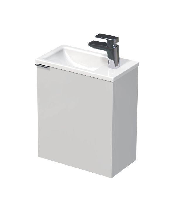 Skříňka s keramickým umyvadlem 41x22,5x49 cm, pravá
