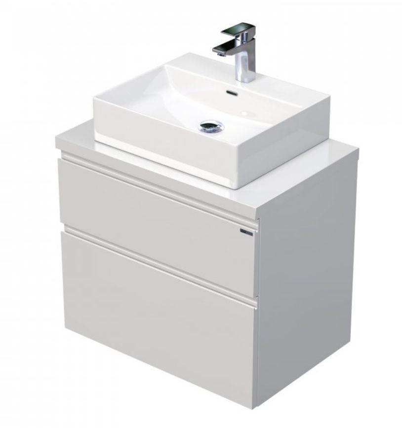 Skříňka 70x46x51,6 cm s umyvadlem na desku 50x42x13 cm a se 2 zásuvkami