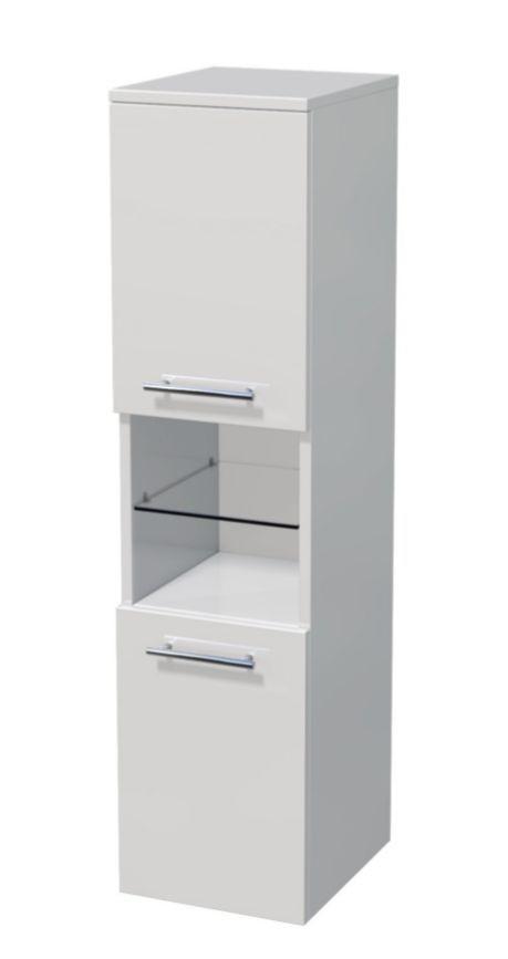 Střední skříňka 2 dveře, otevřené police 35x35x121,8 cm