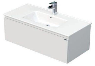 Skříňka s umyvadlem a s 1 zásuvkou, 101x46x36,5 cm