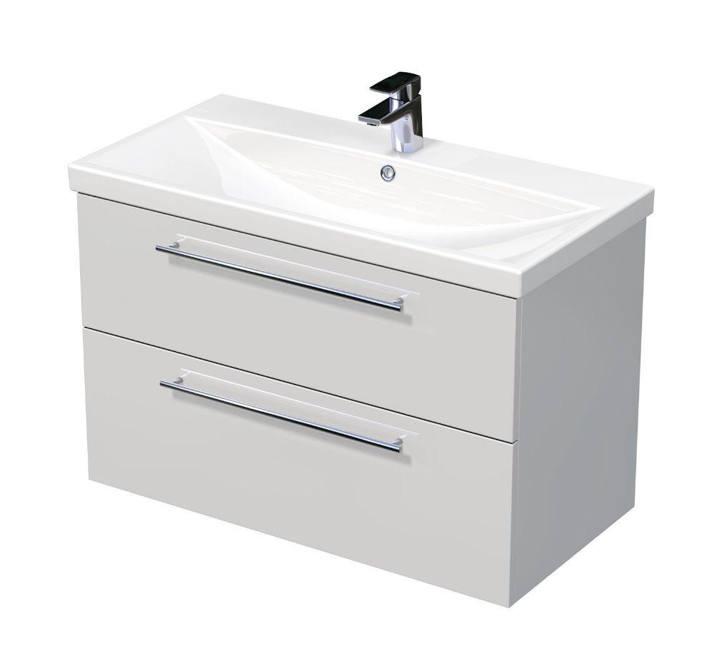 Skříňka s umyvadlem ELITE a se 2 zásuvkami 90x45x61 cm