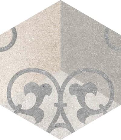 Dlažba Hexagono Kunashir, 23x26,6cm, série Rift
