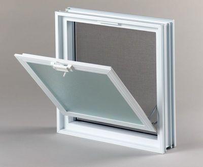 Plastové větrací okno, 38x38cm, tloušťka 8cm
