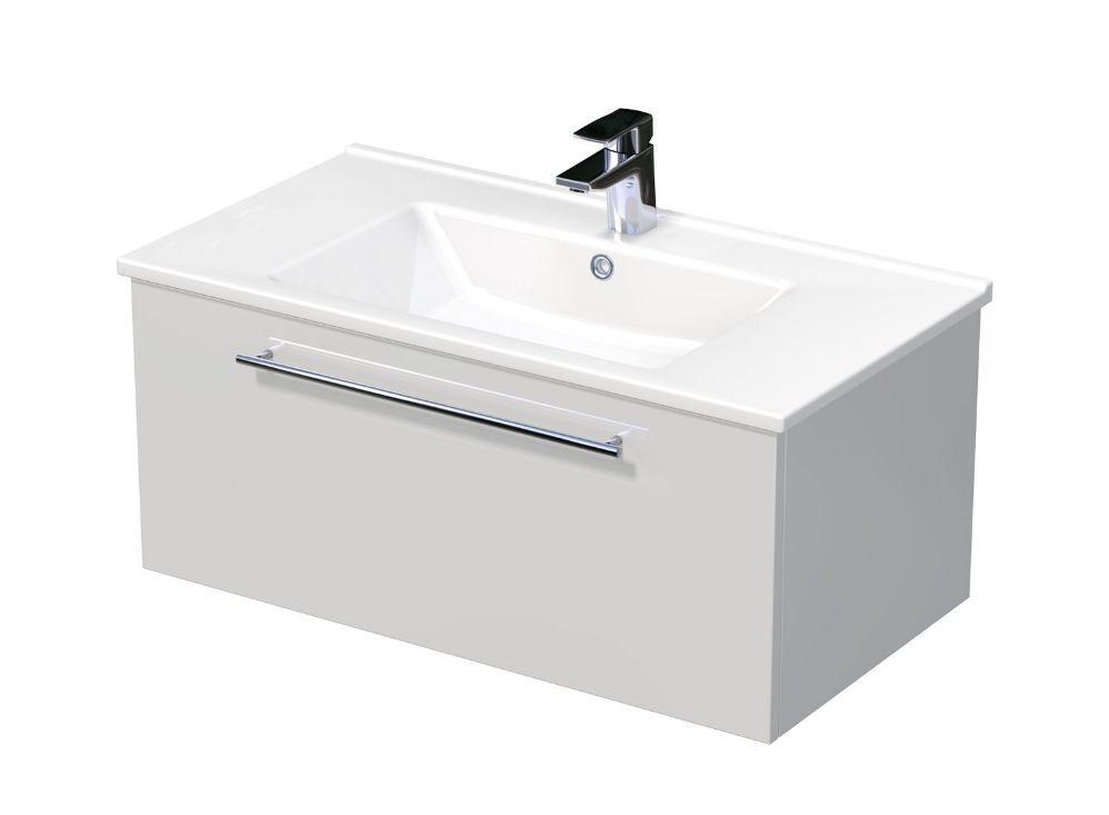 Skříňka s umyvadlem ARTE a s 1 zásuvkou 85x45x38 cm
