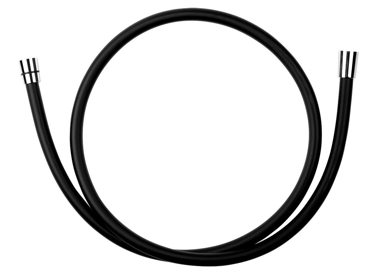 Sprchová hadice plastová, 150 cm, černá/chrom