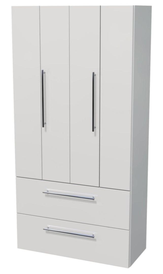 Vysoká skříňka 2 dveře, 4 zásuvky 80x35x161,8 cm
