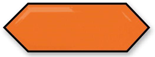 Obklad Cupidón Naranja Line Brillo Bisel, 10x30 cm, lesk s fazetou