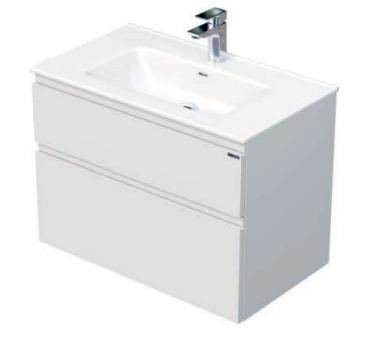 Skříňka s umyvadlem a se 2 zásuvkami, 81x46x59,5 cm