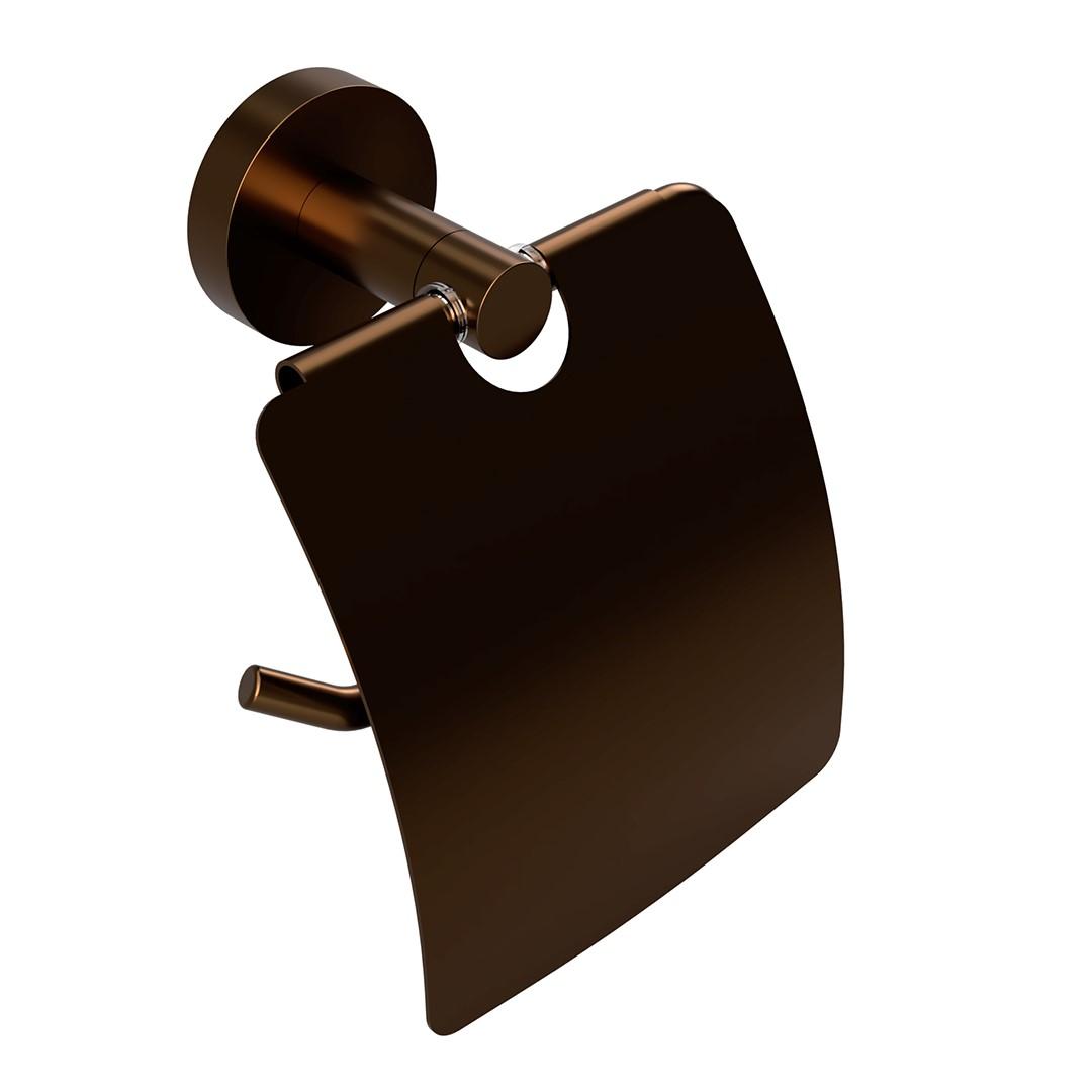 Držák na toaletní papír s krytem, coffee-gold