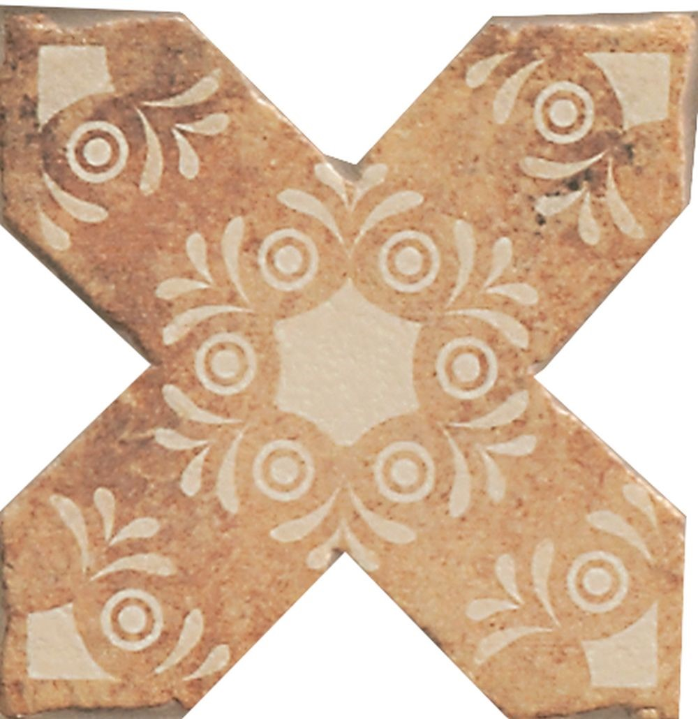 Dlažba Cross Temple Fire 15,5x15,5 cm, mat