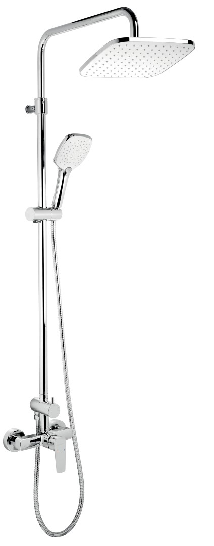 Nástěnná sprchová souprava + sprchová baterie, rozteč 150 mm, chrom