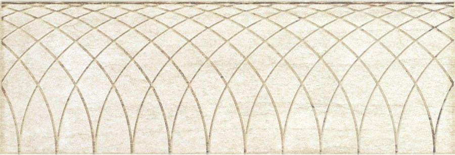 Obklad Mayestic Beige Decor 10x30 cm, lesklý