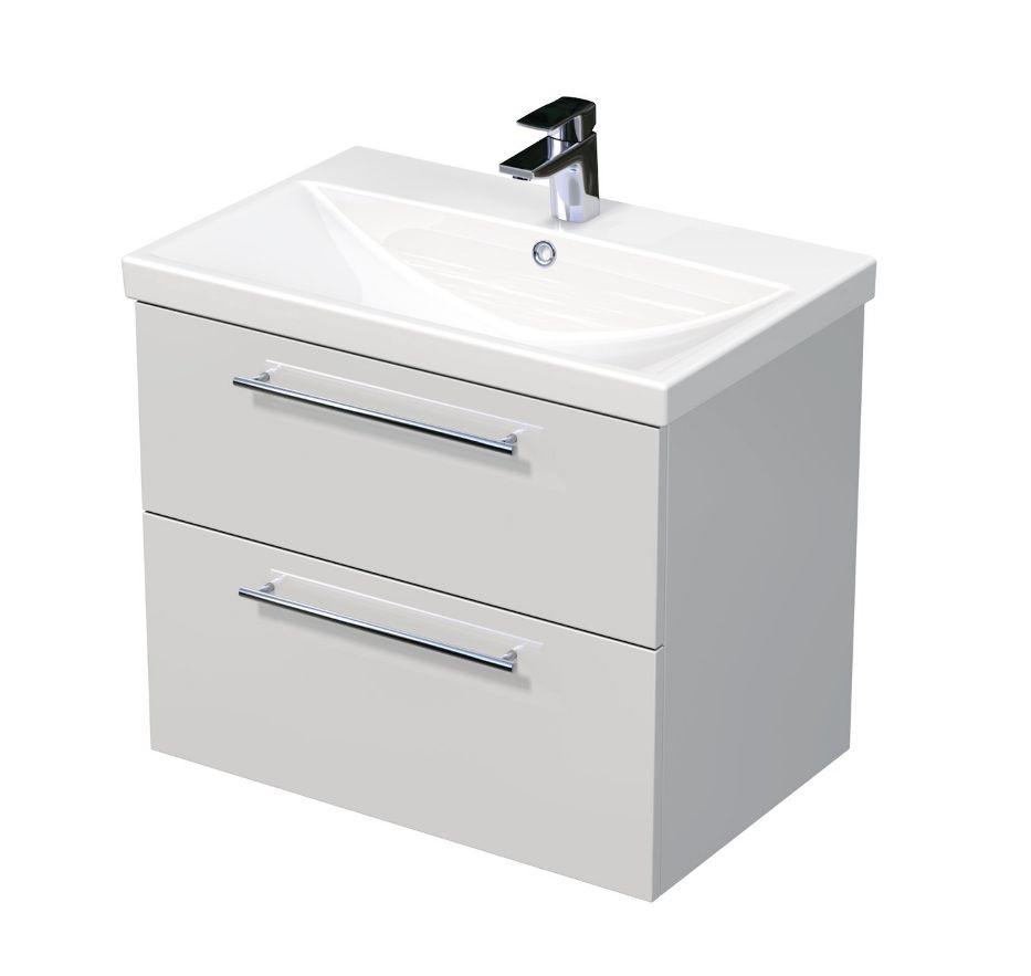 Skříňka s umyvadlem ELITE a se 2 zásuvkami 70x45x61 cm