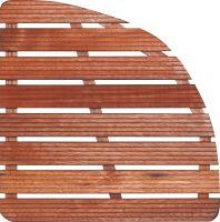 Dřevěná sprchová rohož čtvrtkruh 64x64cm