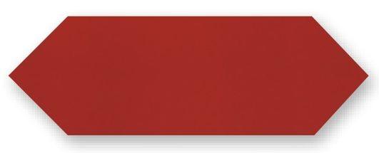 Obklad Cupidón Rojo Brillo Liso, 10x30 cm, lesk
