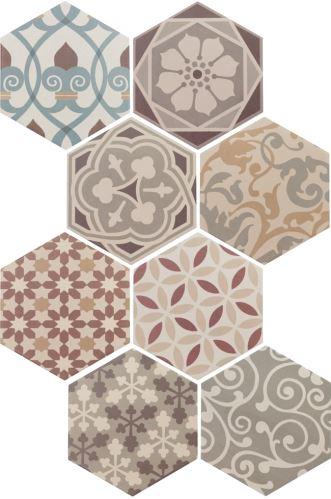 Obklad/ dlažba Hexatile Harmony Colours 17,5x20cm, mat