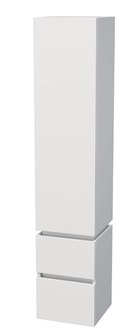 Vysoká skříňka 1 dveře, 2 zásuvky 35x34x170 cm, levá