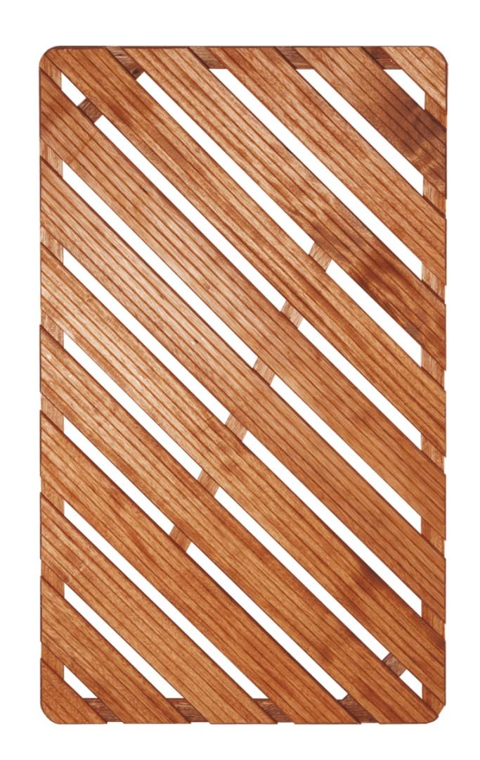 Dřevěná sprchová rohož 60x100cm