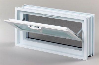 Plastové větrací okno, 38x19cm, tloušťka 8cm