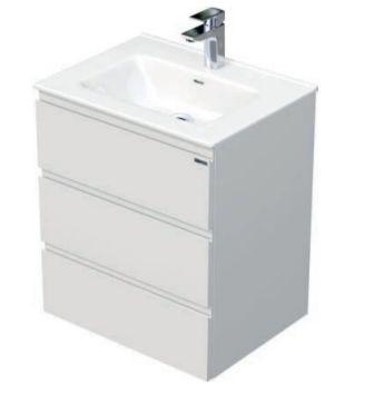 Skříňka s umyvadlem a se 3 zásuvkami, 61x46x70,5 cm