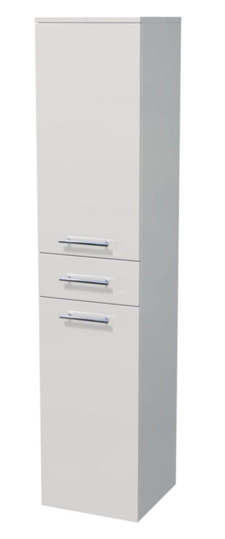 Vysoká skříňka 2 dveře, 1 zásuvka, koš 35x35x161,8 cm