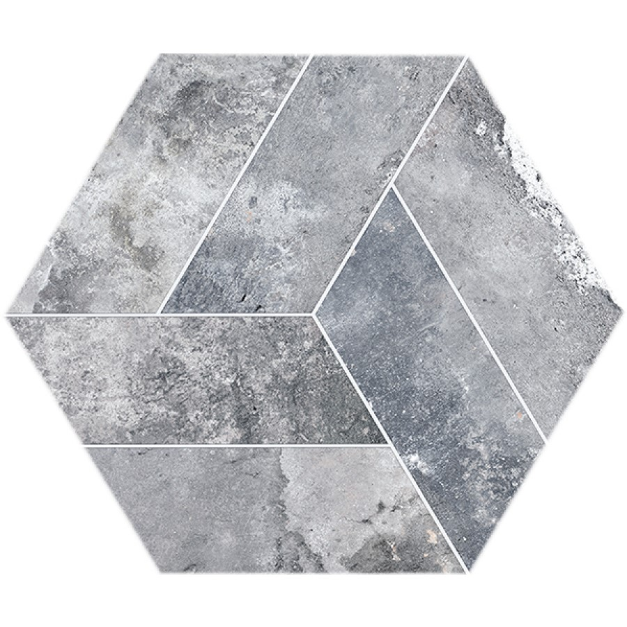 Dlažba Basalt Grey 20x24 cm, mat