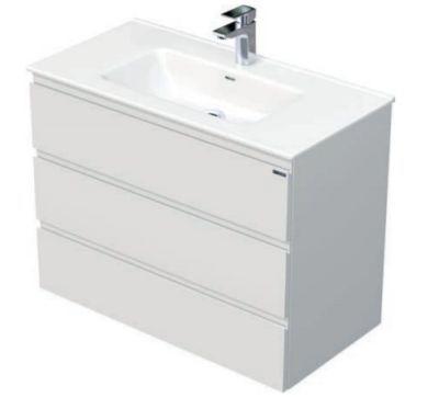 Skříňka s umyvadlem a se 3 zásuvkami, 91x46x70,5 cm