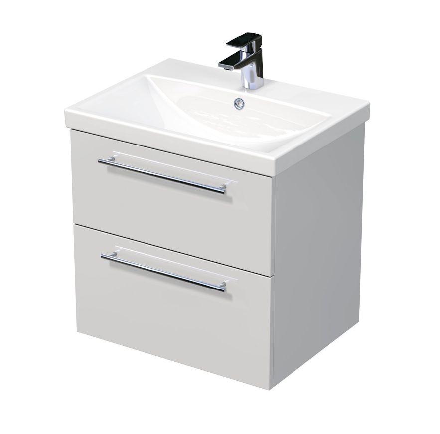 Skříňka s umyvadlem ELITE a se 2 zásuvkami 60x45x61 cm