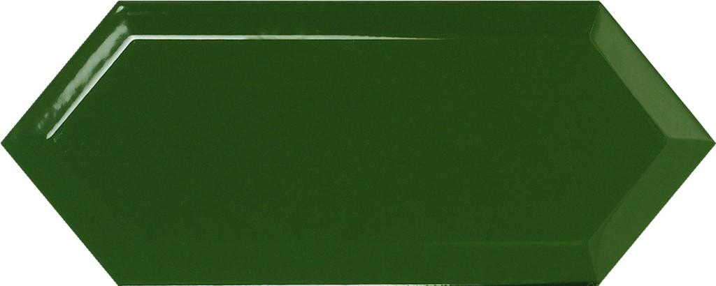 Obklad Cupidón Dark Green Brillo Bisel, 10x30 cm, lesk s fazetou