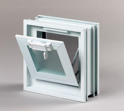 Plastové větrací okno, 19x19cm, tloušťka 8cm