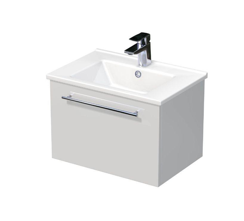 Skříňka s umyvadlem ARTE a s 1 zásuvkou 55x37x38 cm