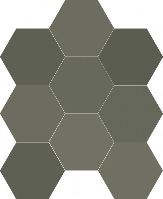 Obklad/dlažba Chicago Exa Olive 21,5x25 cm, mat