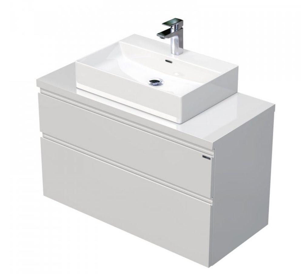 Skříňka 100x46x51,6 cm s umyvadlem na desku 60x42x13 cm a se 2 zásuvkami